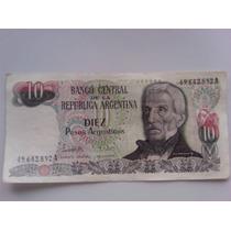 Billete De Diez Pesos Argentinos