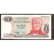 1 Peso Argentino. Lote X 10. Todos Baja Numeracion.