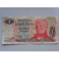Billete De Un Peso Argentino