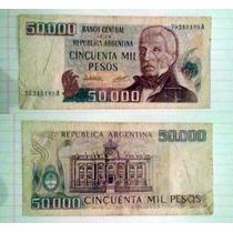 Billete Argentina 50.000 Pesos