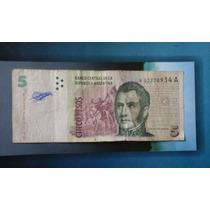 Billete $5 Pesos Argentinos De Reposición