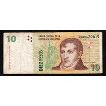 Billete 10 Pesos Bottero 3439 Tirada Corta