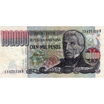 Billete Argentina 100.000 Pesos 7.54