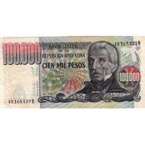Billete Argentina 100.000 Pesos 7.55