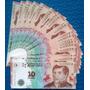 10 Billetes S/ Circular Correlativos Belgrano 10 Pesos Nuevo