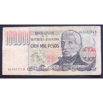 100000 Pesos Ley Serie B Bottero 2504a Bueno