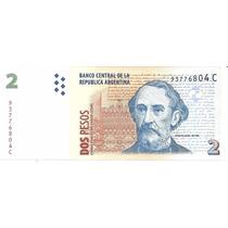 Billete Arg Bottero 3206 $2 Convert C/leyenda S/cir Palermo