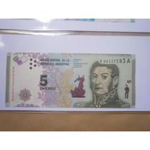 Nuevo Billete De 5 Pesos Reposición - Sin Circular!