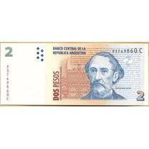 Billete Argentina $2 Convertibles C/leyend S/circ. -palermo-