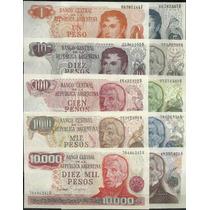 Serie De 10 Billetes Pesos Ley Sin Circular