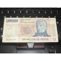 Billete De 1 Millon Pesos Ley 18188 ... 1.000.000 !!