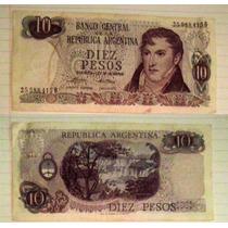 Billete Argentina 10 Pesos
