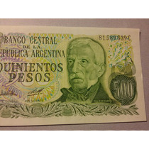 Bottero N° 2430b. Billete 500 Pesos Ley. Estado S / C Oferta