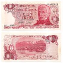 Billete Argentina 100 Pesos Ley 1974 Bot 2395