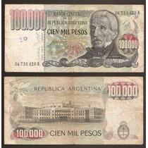 Billete 100000 Pesos Ley Bottero 2502