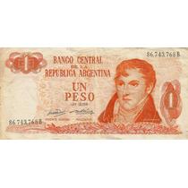 Bottero 2305 Billete De 1 Peso Ley 18.188 Año 1971