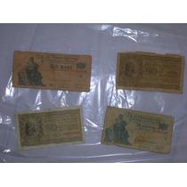 ¡¡¡billetes De $1 (x4) Y $0,50 (x3) Pesos Ley!!!