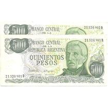 Lote 2 Billetes 500 Pesos Ley Bottero 2433 S/cir Palermo