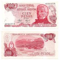 Billete Argentina 100 Pesos Ley 1972 Bot 2386
