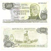 Billete Argentina 500 Pesos Ley 1979 Bot 2428a