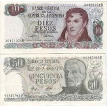 Argentina Lote Billetes Ley 18188 $ 1 A 100.000