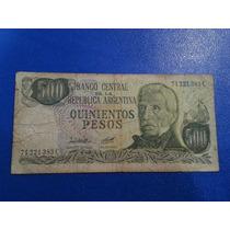 Billete Argentina 500 Pesos Ley 1980 Bot 2429a