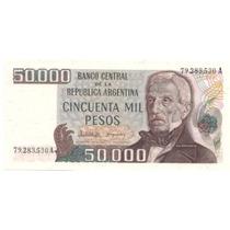 Dificil Billete 50.000 Pesos Ley Bottero 2501 Tirada Corta