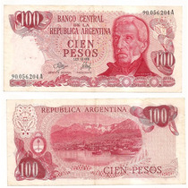 Billete Argentina 100 Pesos Ley 1973 Bot 2389