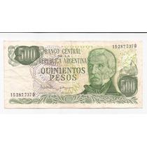 Argentina Billete De 500 Pesos Ley Bottero 2433 !!