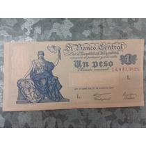 Billete Argentina 1 Peso Serie L / Ley 12155 S/ C- Ref S1