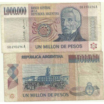 Billete 1.000.000 Pesos Ley Serie A 1 Millon Bueno