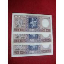 Billetes 1 Peso Justicia Lotes Series A-b-d-coleccionistas!