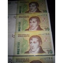 Lote De 4 Billetes Correlativos