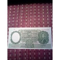 50 Pesos Moneda Nacional Numeros Rojos Palarea Revestido