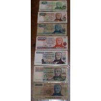 Lote 7 - 7 Billetes Argentinos Valores En Pesos