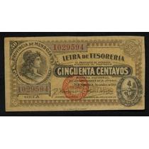 Provincia De Mendoza - Letra De Tesoreria 50 Cent. Año 1914