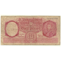 10 $ M/n A Bottero 1932 Tirada Muy Corta Firmas Rojas Raro