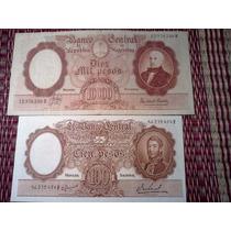 Billete 10.000 Pesos Moneda Nacional +100 Pesos Sin Circular