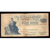 Billete 100 Pesos Moneda Nacional Progreso Bottero 1896