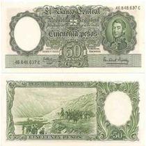 Billete 50 Pesos Moneda Nacional Bottero 2014 Excelente+++++