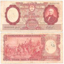 B D M / Argentina / 10.000 Pesos Mon. Nac. / 1968 / Bot#2196