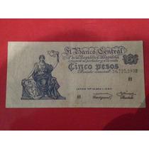 Billete Argentina 5 Pesos M / N 1959 Bot 1875