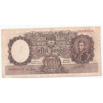 1000 Pesos Moneda Nacional Numero Rojos Bottero 2138
