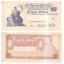 Billete Argentina 5 Pesos M / N 1959 Bot 1876 A