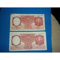 Lote De 4 Billetes De Diez Pesos M/n Series E E F G