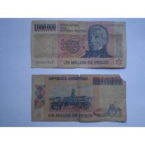 Lote Billetes De 1.000.000 De Pesos Moneda Nacional