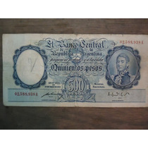 Billete De 500 Pesos Moneda Nacional - 1949