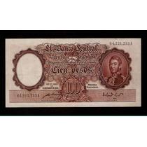 Guardia Imp. Banco Central 100 Pesos 1952 Excelente