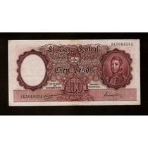 Guardia Imp. Banco Central 100 Pesos 1948 Muy Bueno