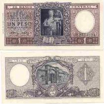 Billete 1 Peso Moneda Nacional Año 1952 Tirada Corta Serie A